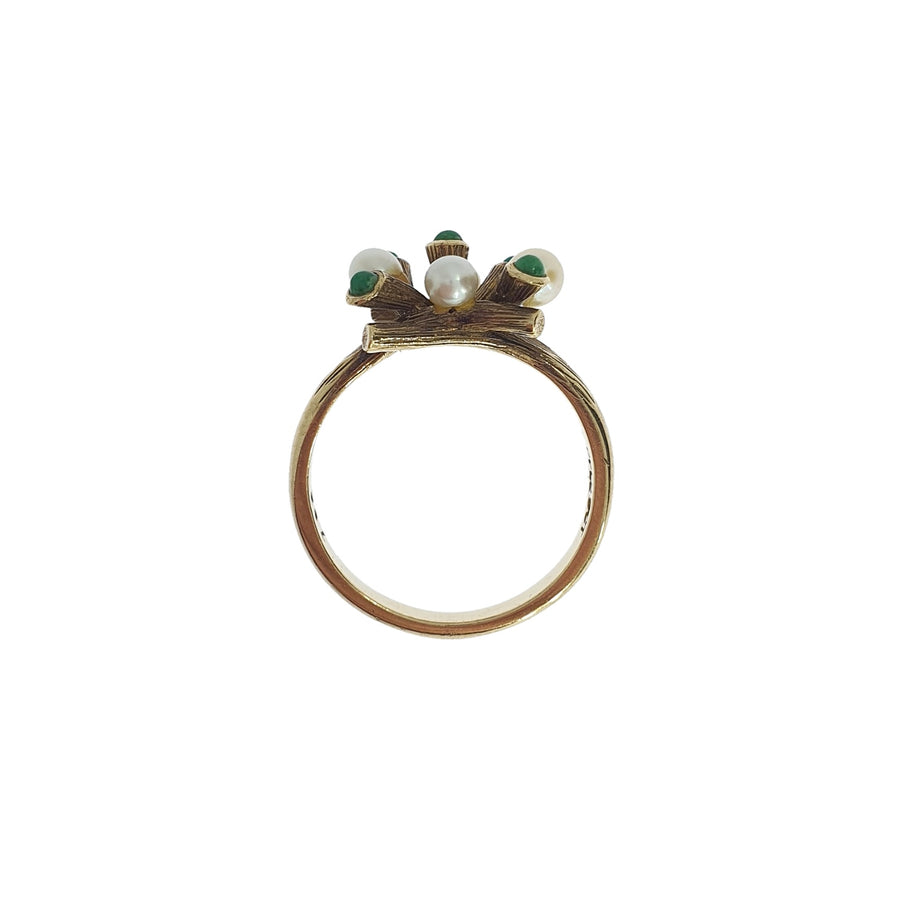 1970s Turquoise & Pearl Ring