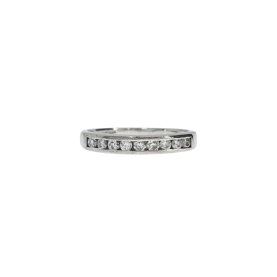 18ct White Gold Channel Set Diamond Eternity Ring 0.25ct