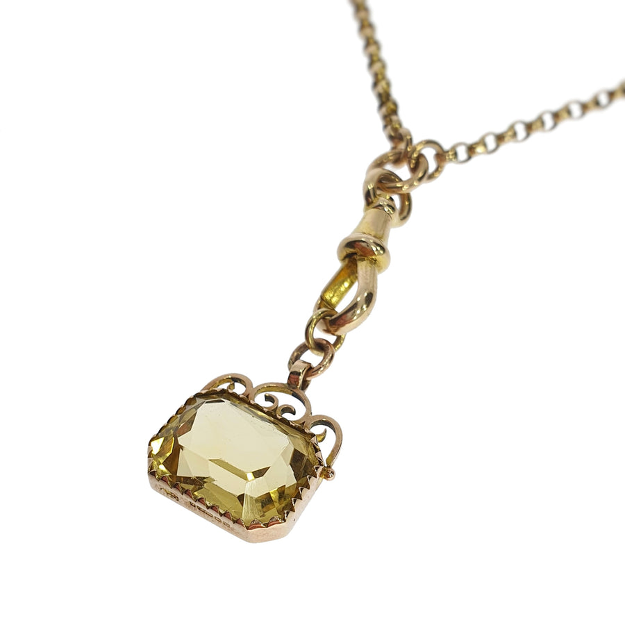 9ct & Citrine Belcher Necklace