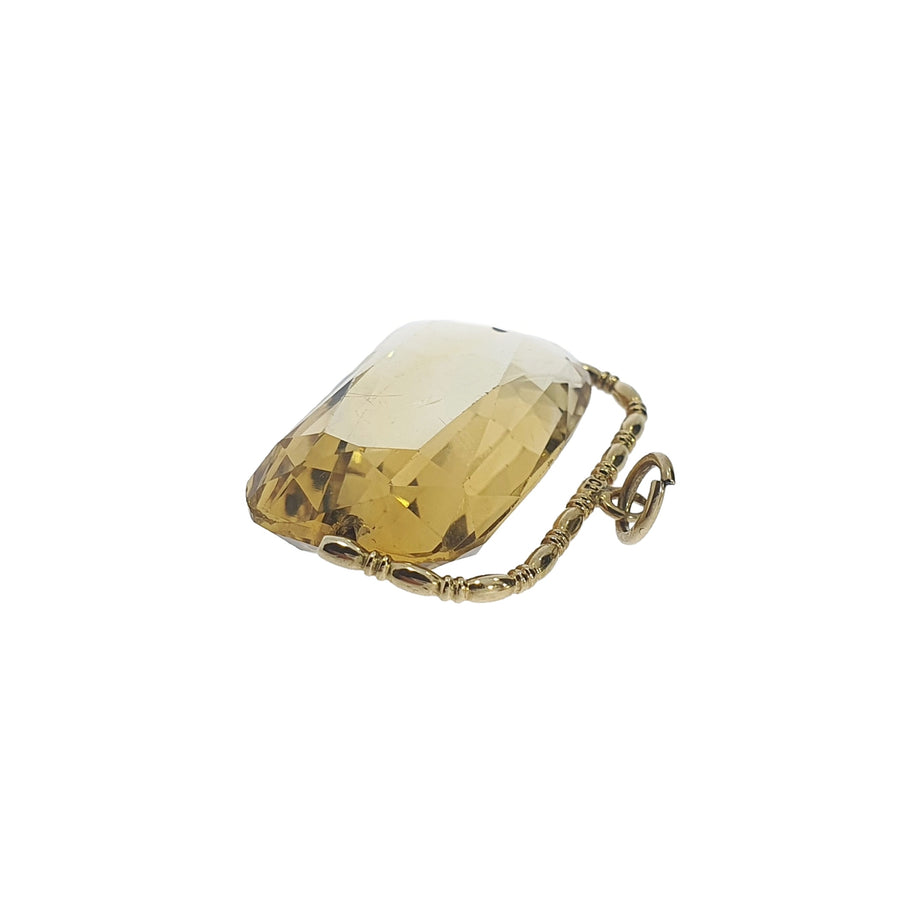 9ct Gold Antique Citrine Fob Charm