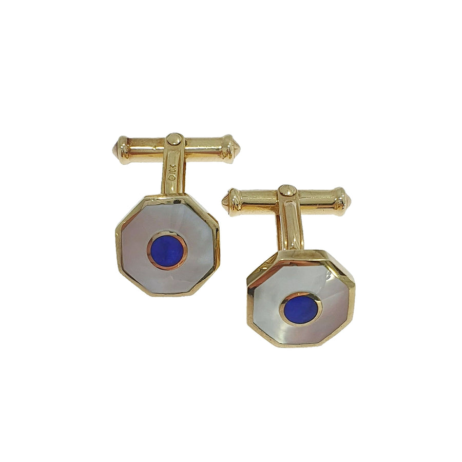 Mother Of Pearl & Lapis Lazuli Cufflinks