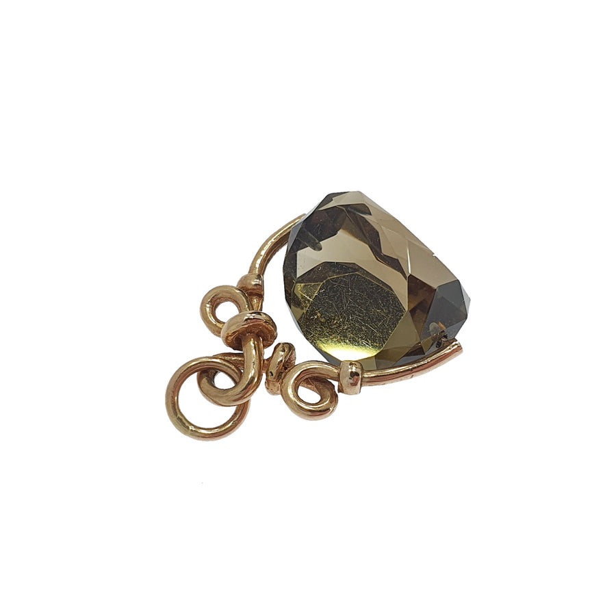 Smoky Quartz Swivel Fob