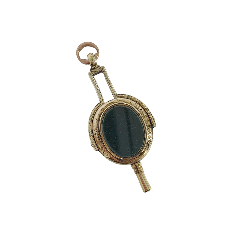 Antique Gold Watch Key Fob Charm