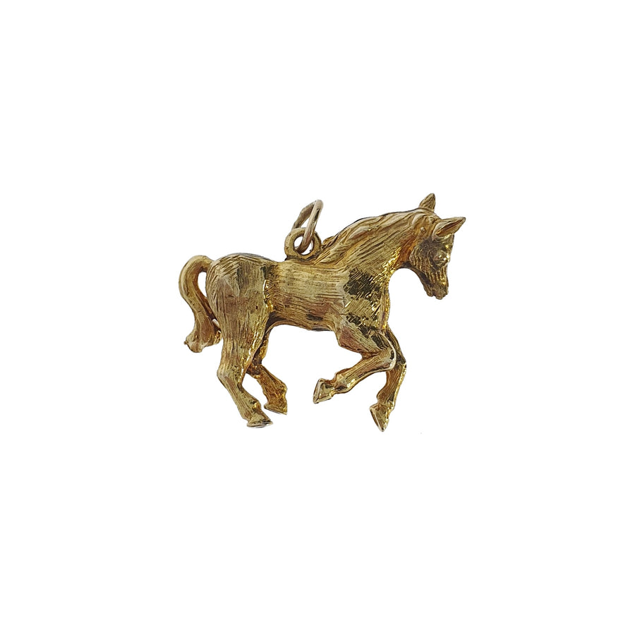 9ct Yellow Gold Horse Charm