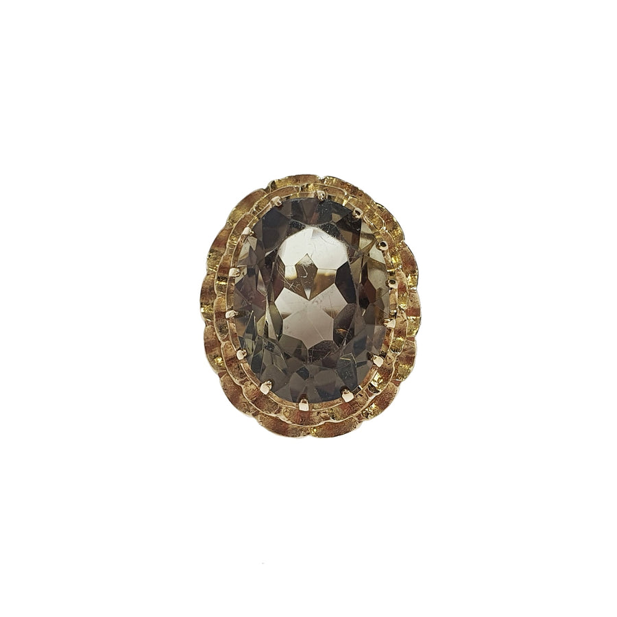 Vintage Smoky Quartz Dress Ring