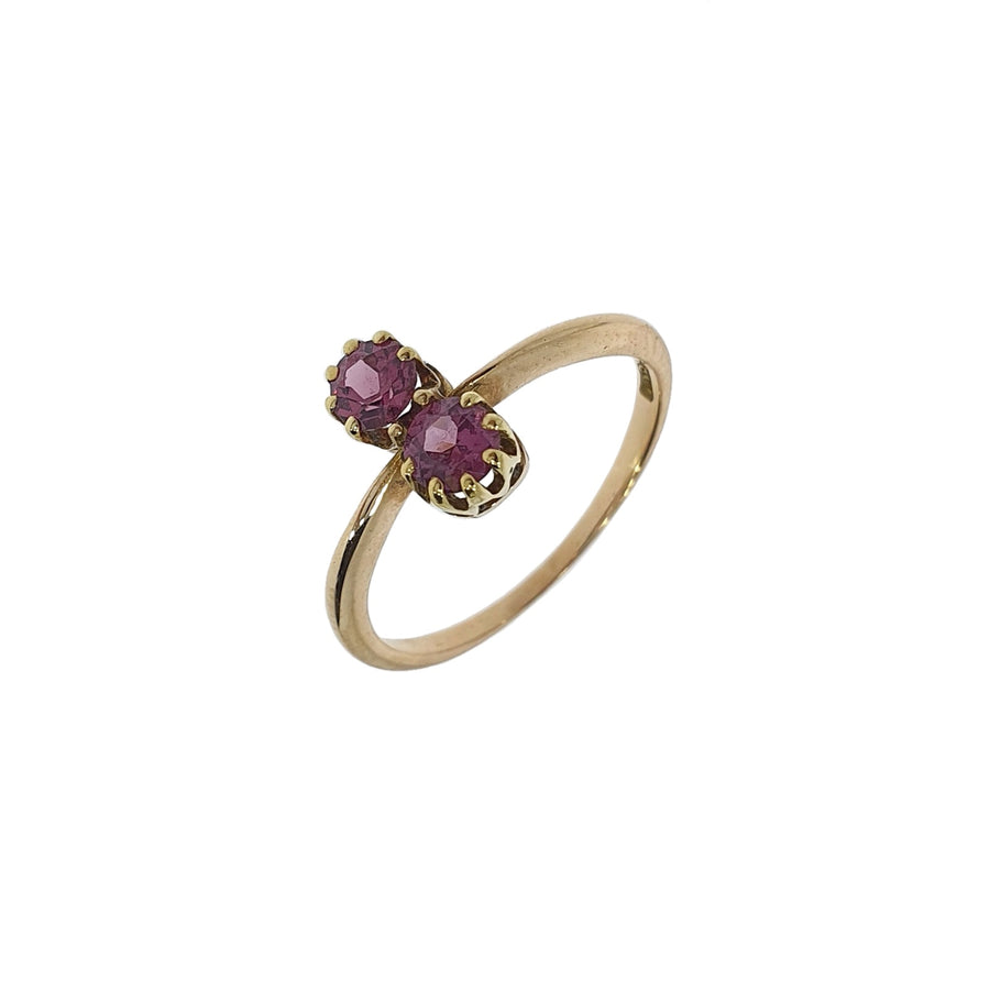 Two Stone Pink Tourmaline Ring