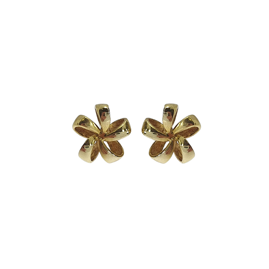 18ct Gold Floral Stud Earrings