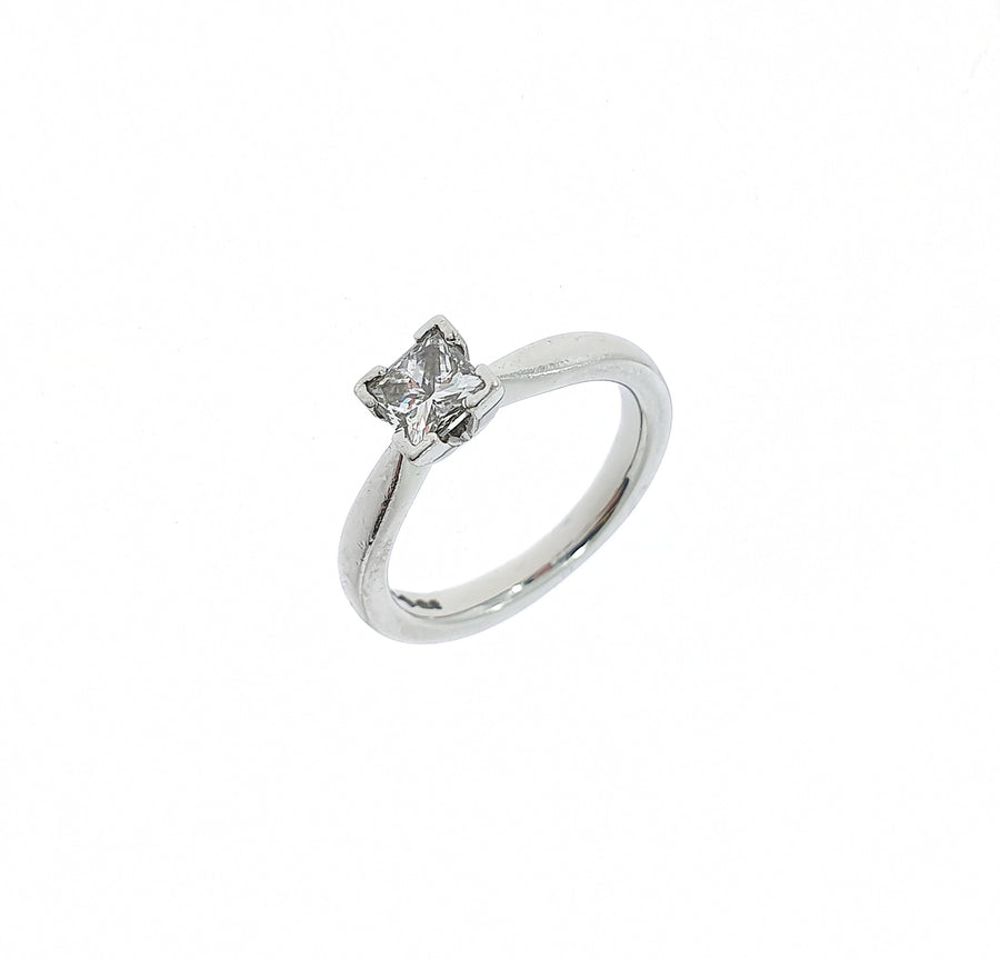 0.67ct Princess Cut Diamond Solitaire Ring
