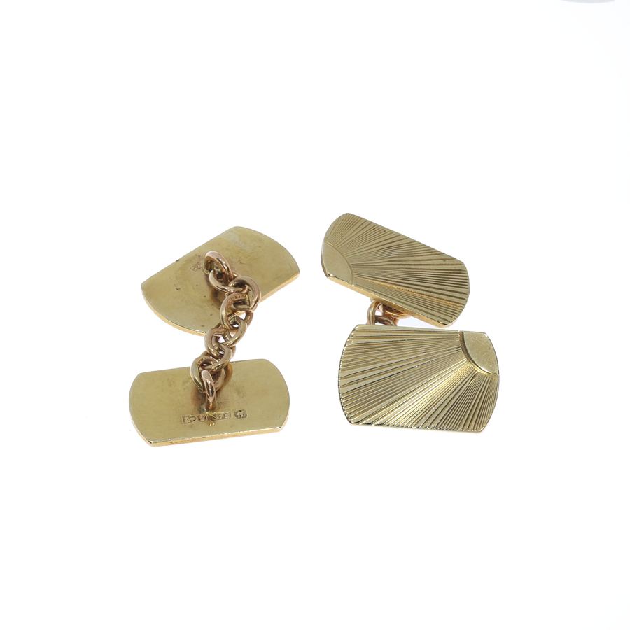 Art Deco Chester Hallmark Cufflinks