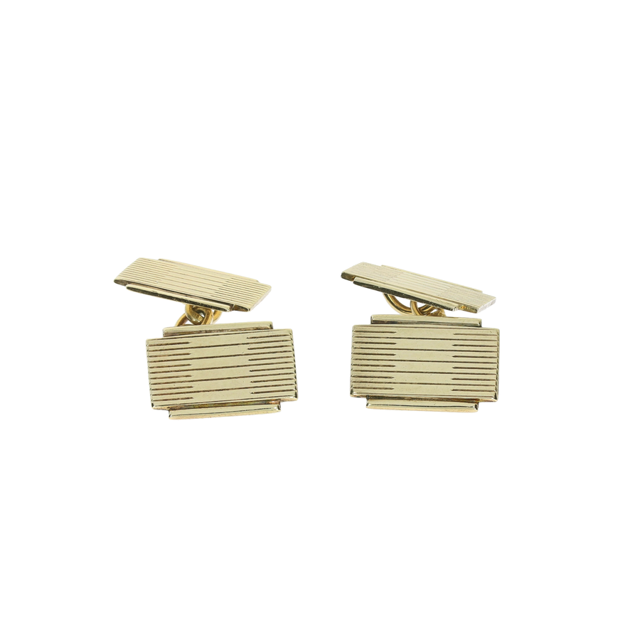 Art Deco Yellow Gold Cufflinks