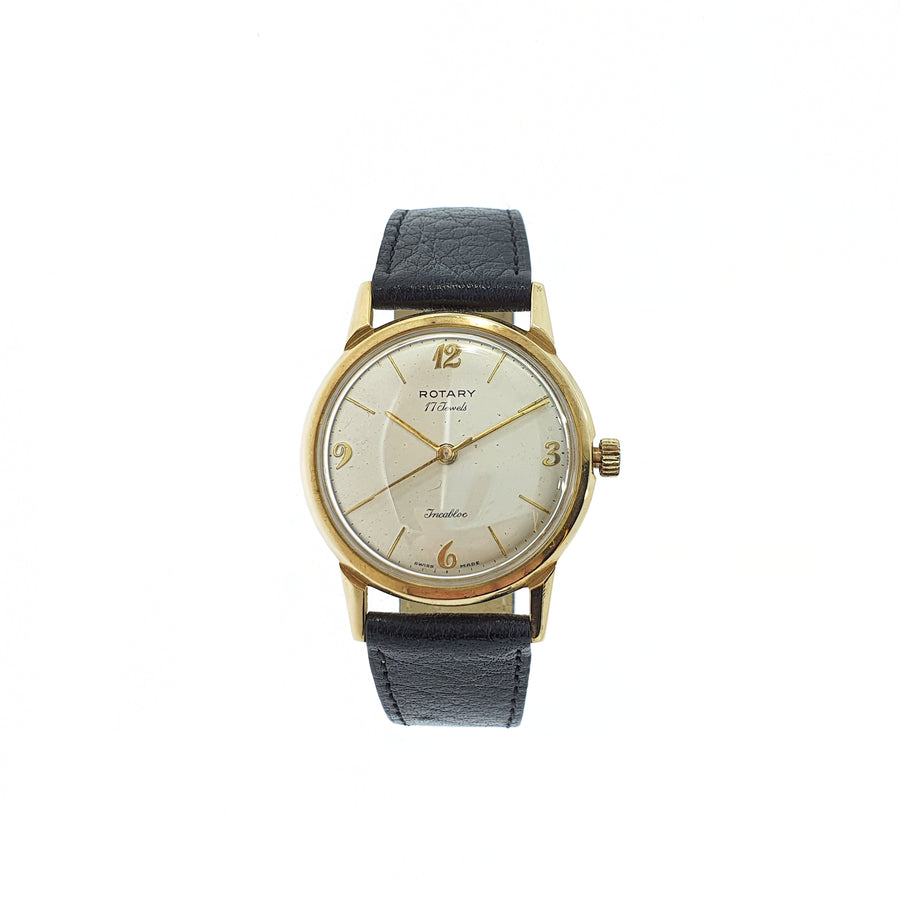 Vintage Gold Rotary Wristwatch