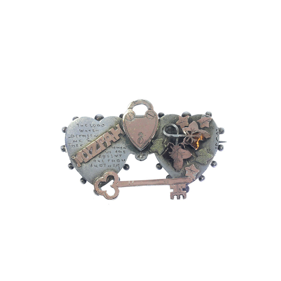 Antique Mizpah Brooch
