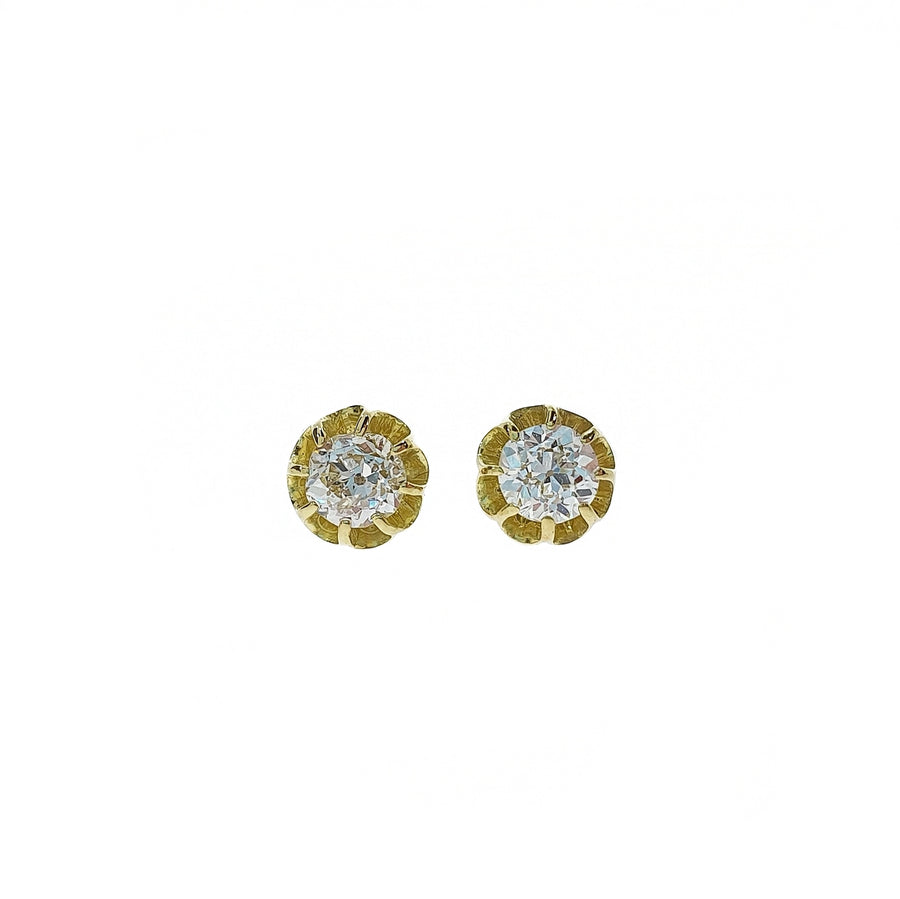 Old Cut Diamond Stud Earrings