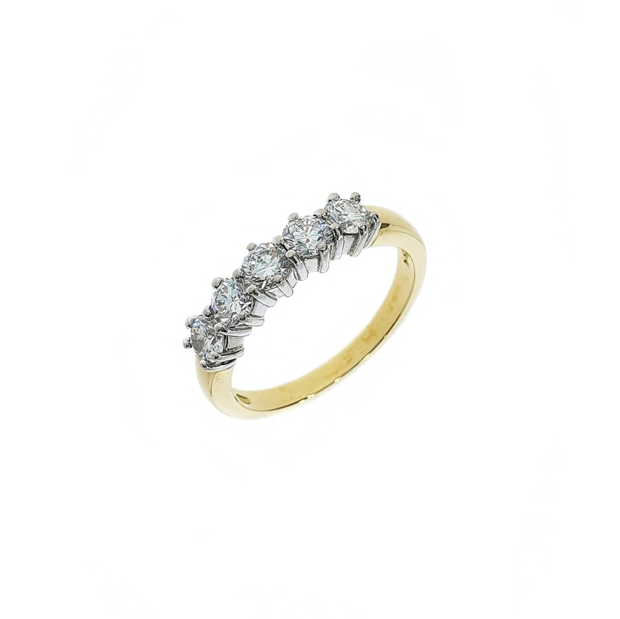 Round Brilliant Cut Diamond Five Stone Ring