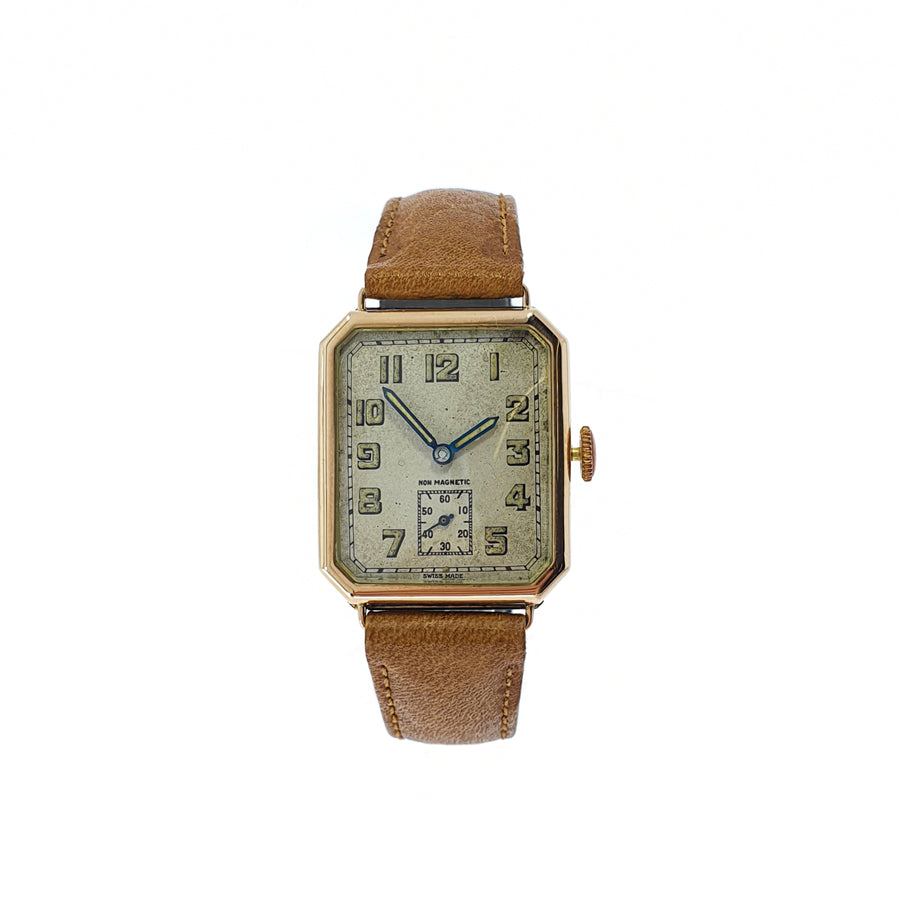 1930s Mechanical Gold Wristwatch