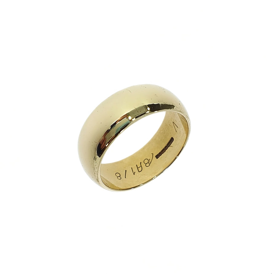 Gold D-Shaped Wide Band