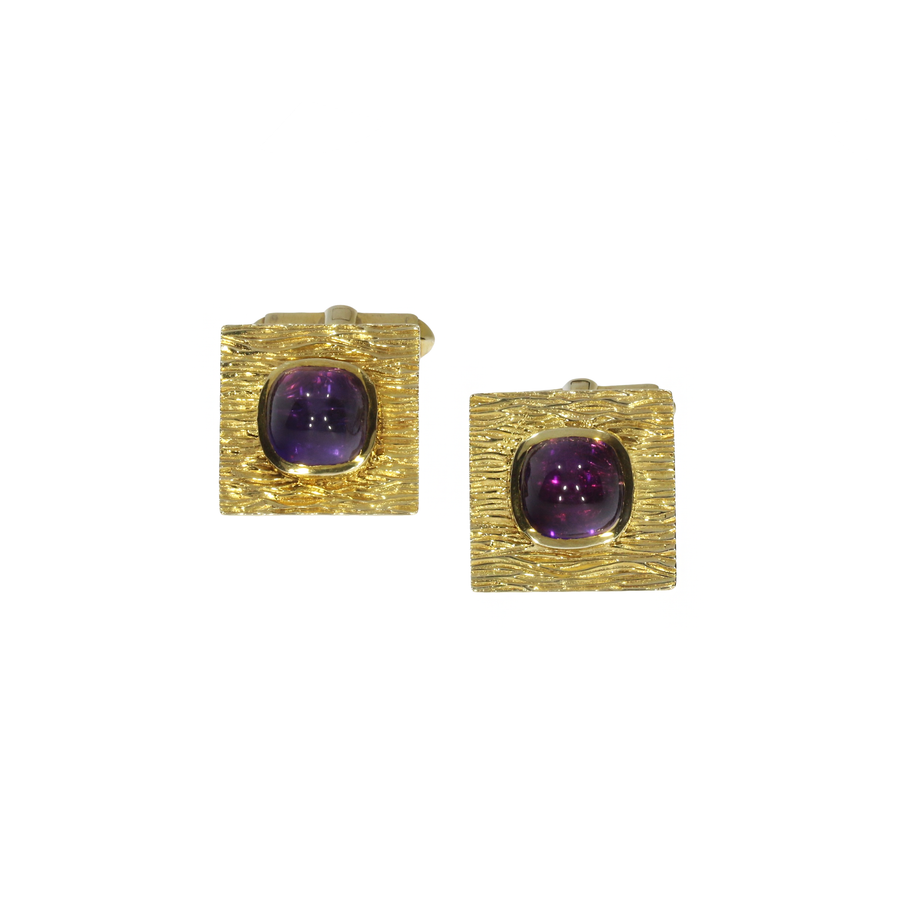 1960s Gold & Amethyst Cufflinks