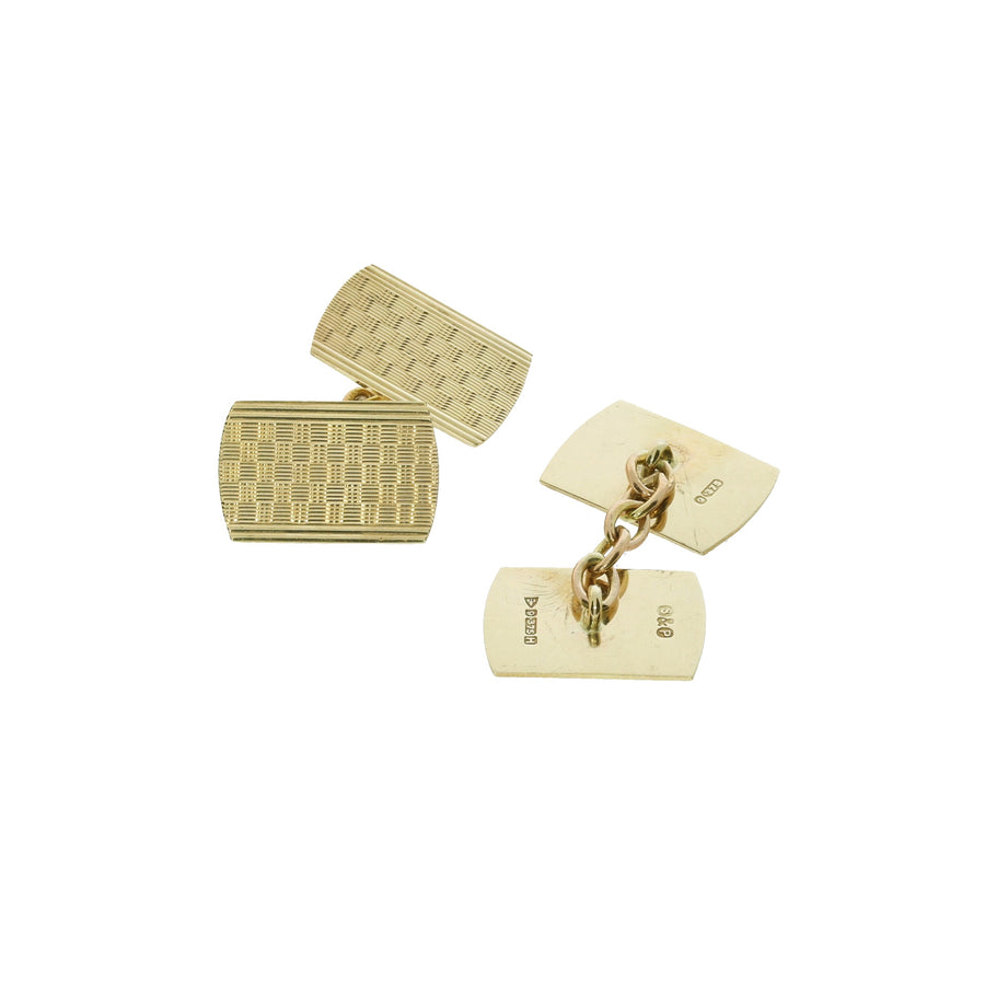 1950s Yellow Gold Cufflinks