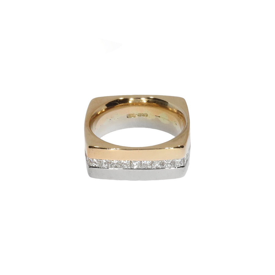 Square Shaped Diamond Set Ring