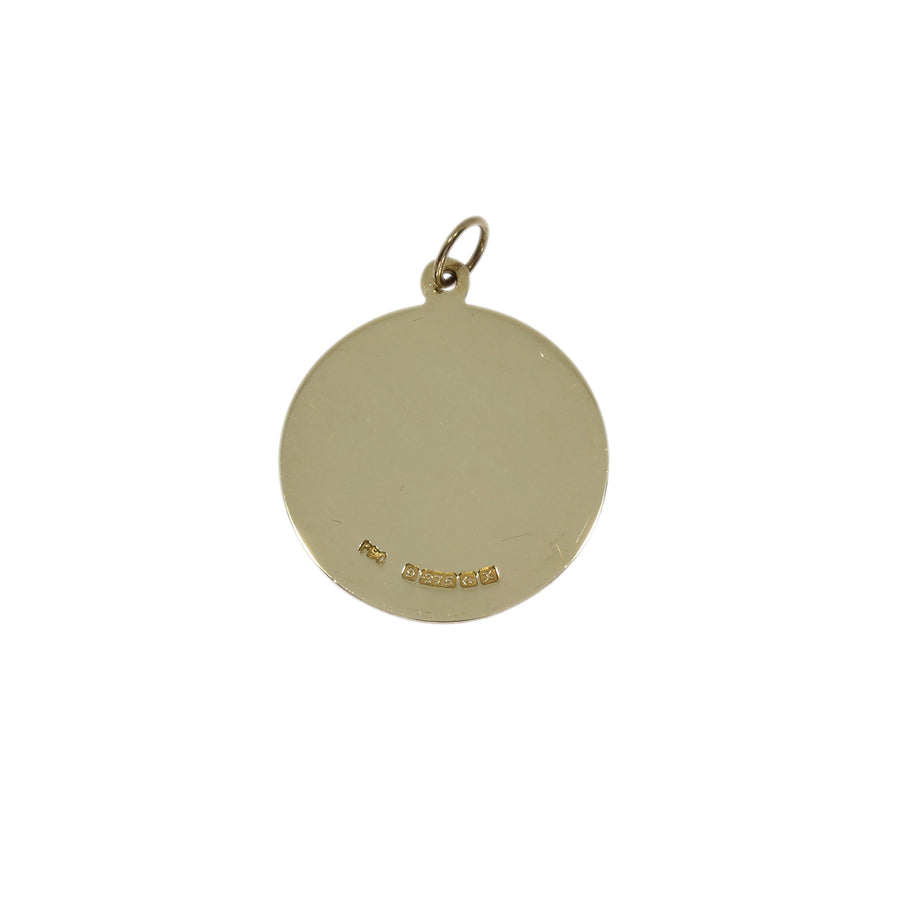 Yellow Gold Disc Pendant