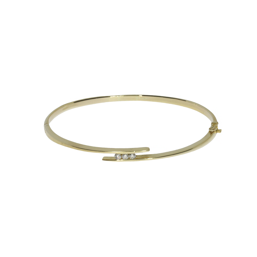 Diamond Set Crossover Bangle