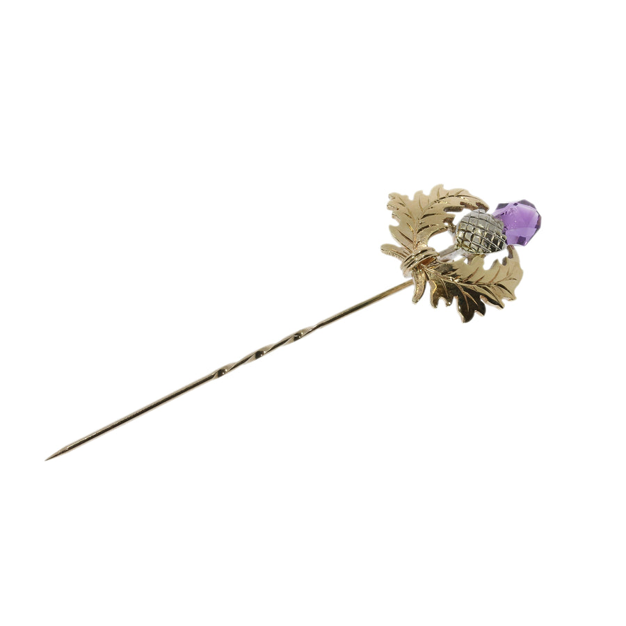 Amethyst Thistle Pin
