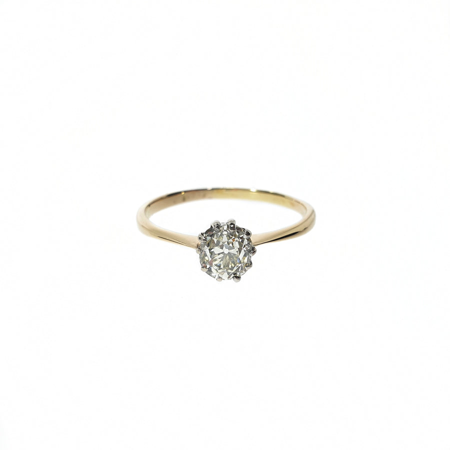 Old Mine Cut Diamond Solitaire
