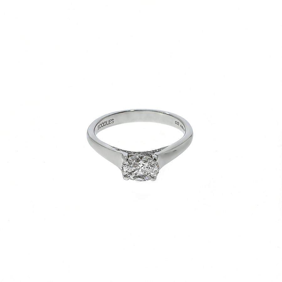 Boodles Oval Cut Diamond Ring