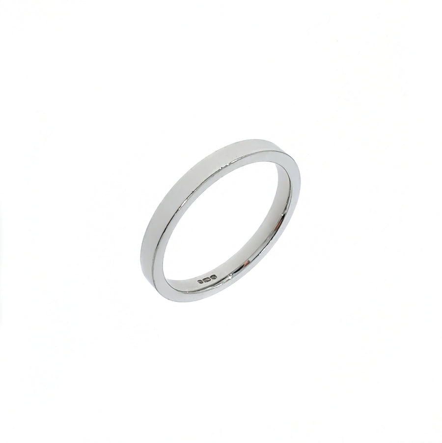 Flat Topped Wedding Band