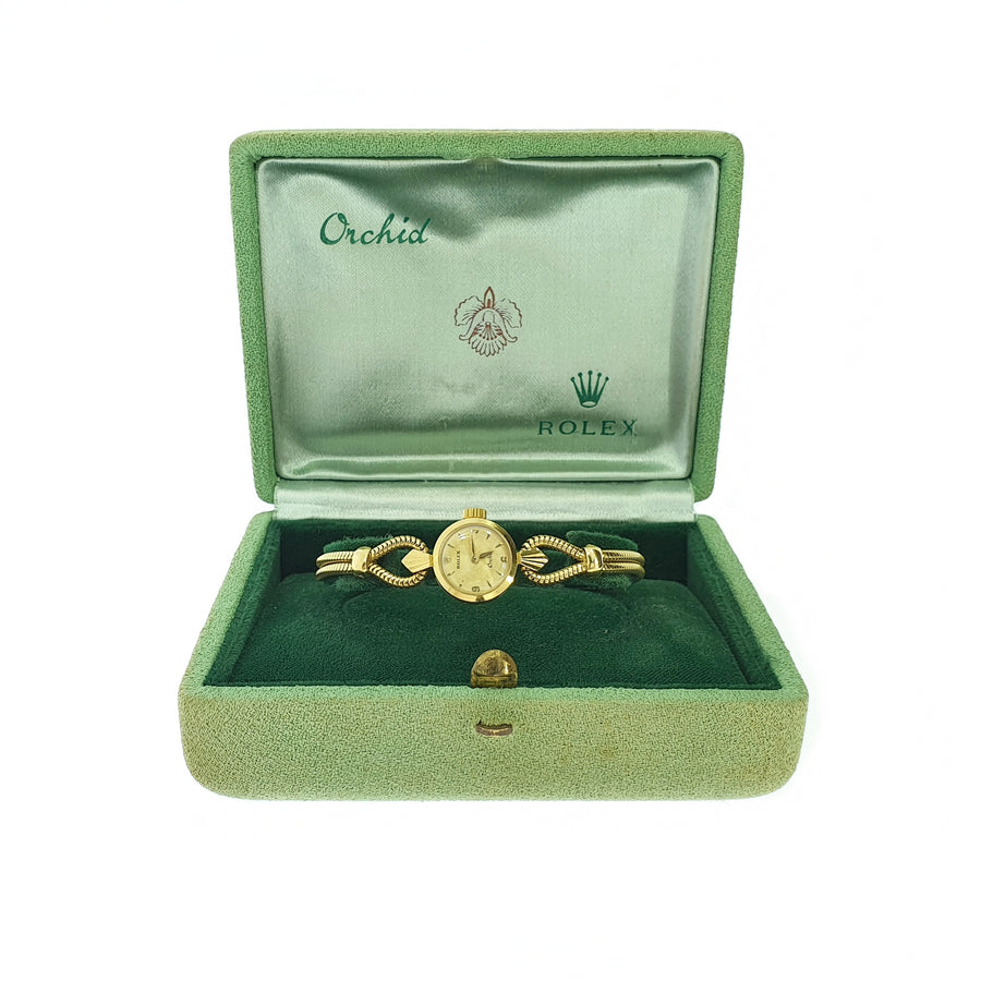 Rolex Orchid Gold Wristwatch
