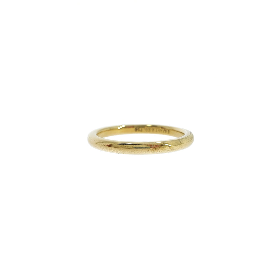Tiffany & Co Gold D-Shaped Band