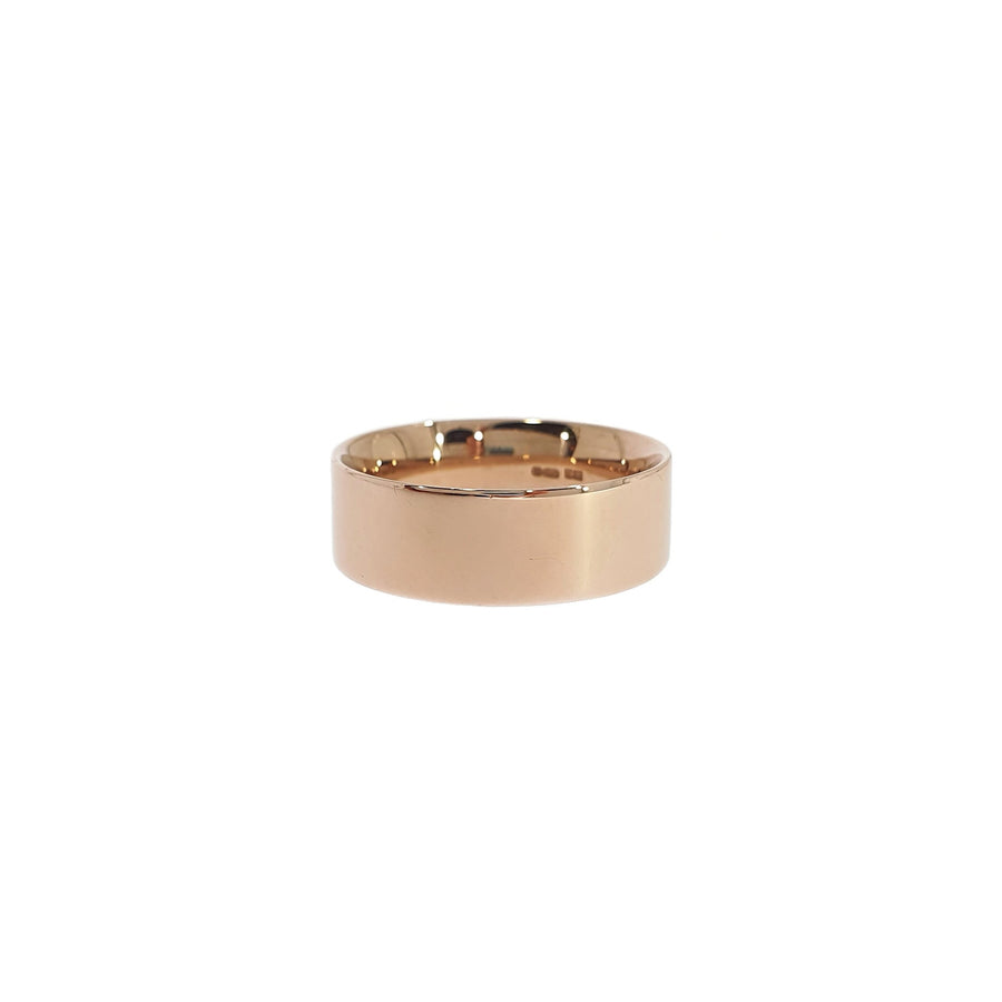 9ct Rose Gold Flat Wedding Ring
