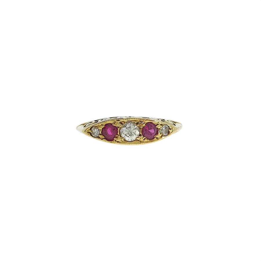 Victorian Style Ruby & Diamond Ring