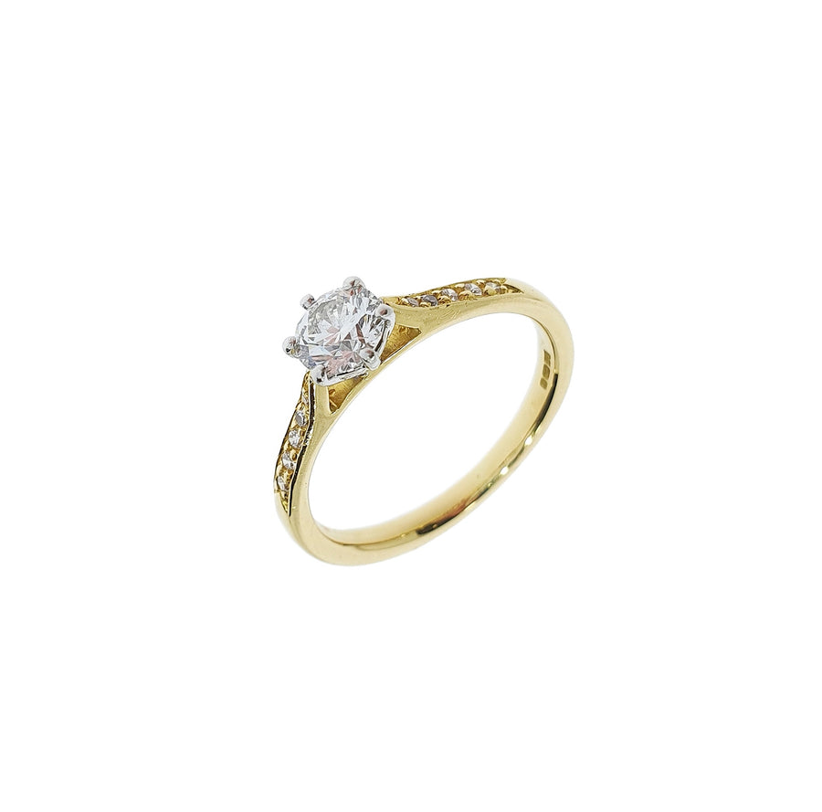 0.42ct Diamond Solitaire Ring