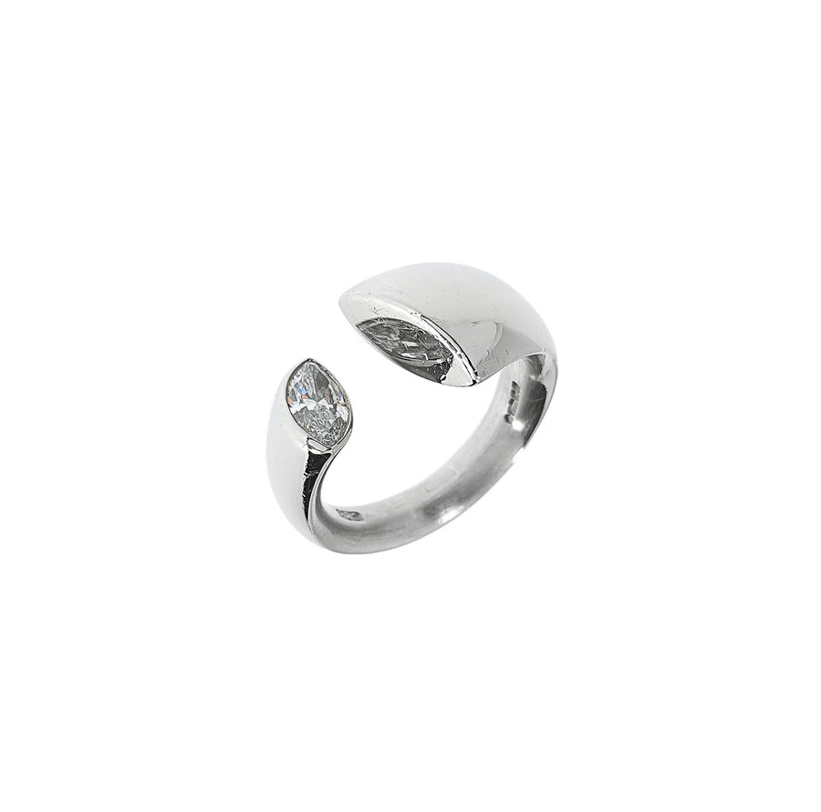 Marquise Diamond Set Torque Ring