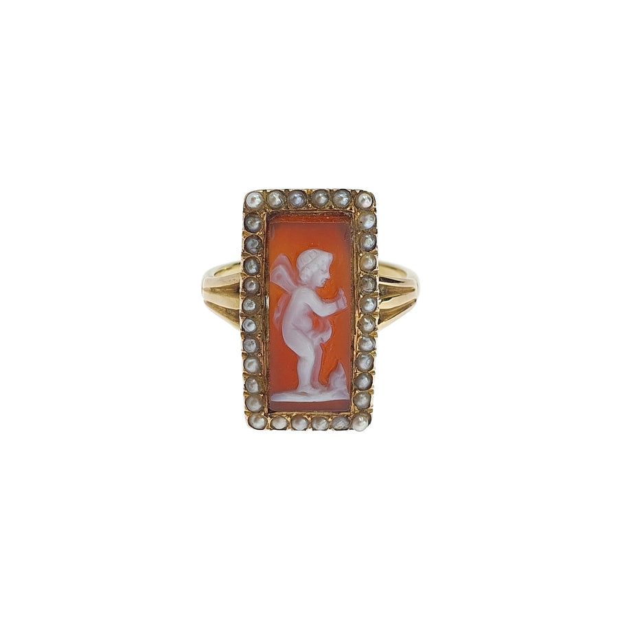 Rectangular Cameo Ring
