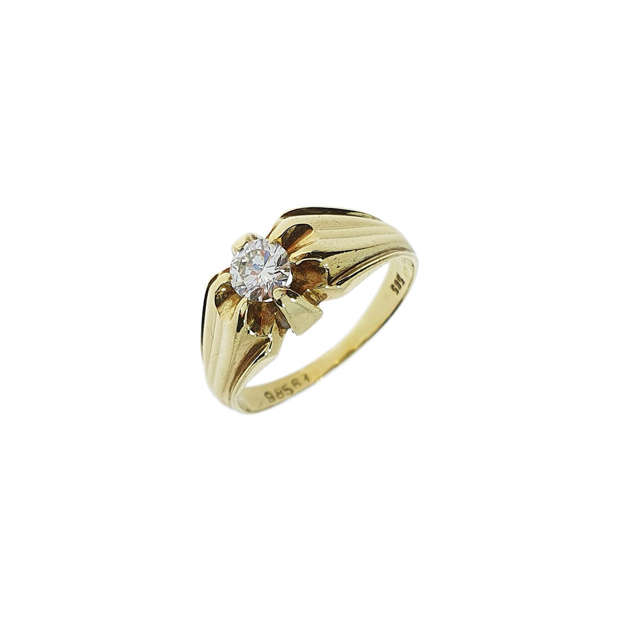 Diamond Set Signet Ring