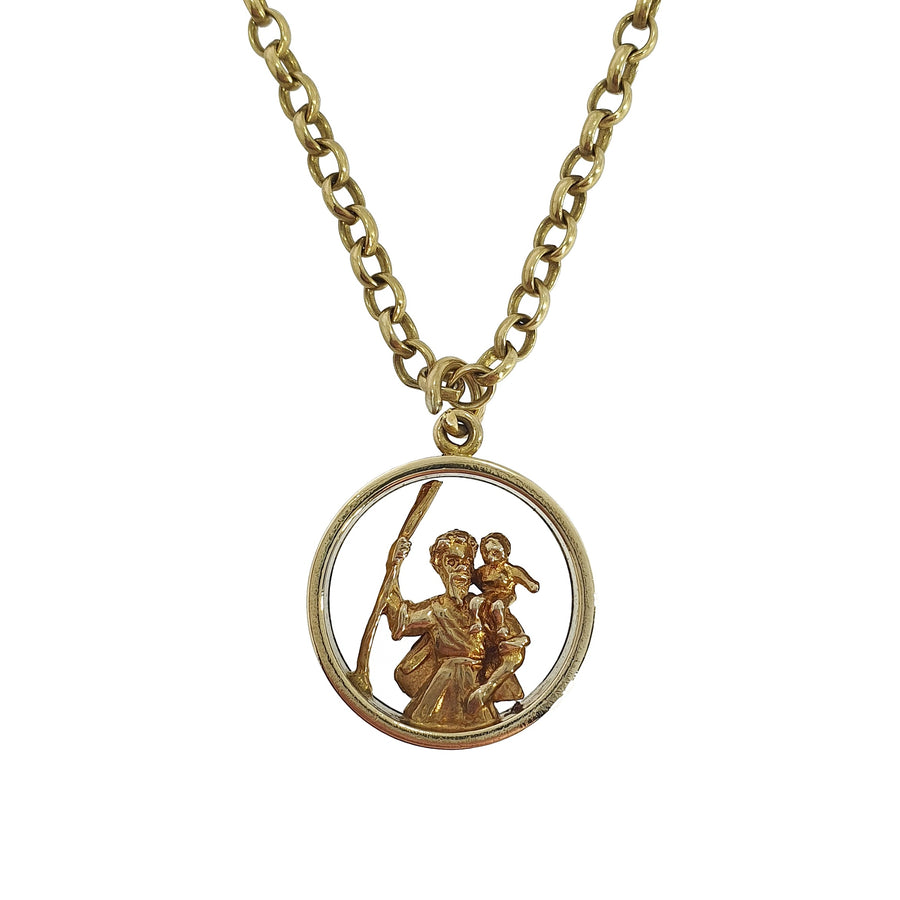 St Christopher Gold Necklace