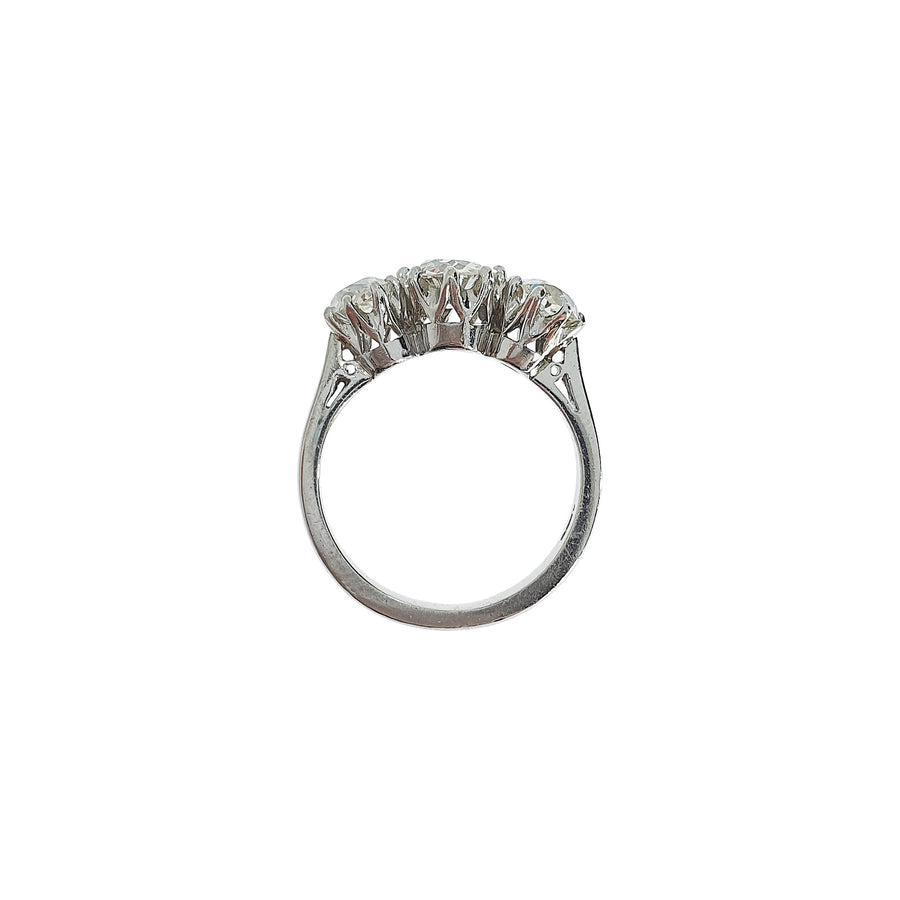 2.27ct Three Stone Diamond Ring