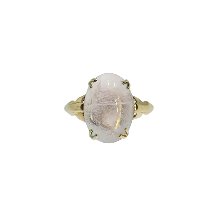 Vintage Cabochon Rose Quartz Ring