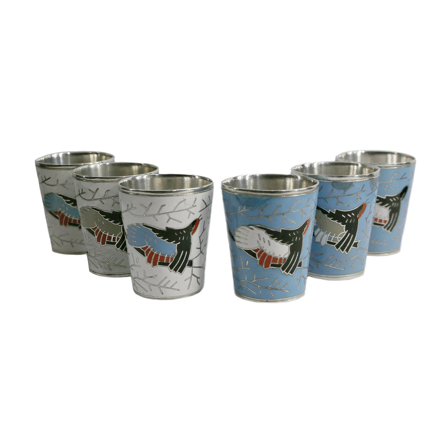 Silver Plated Russian Vodka Shot Glasses