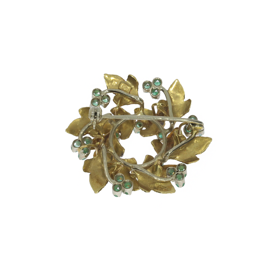1970s Emerald Wreath Broochl