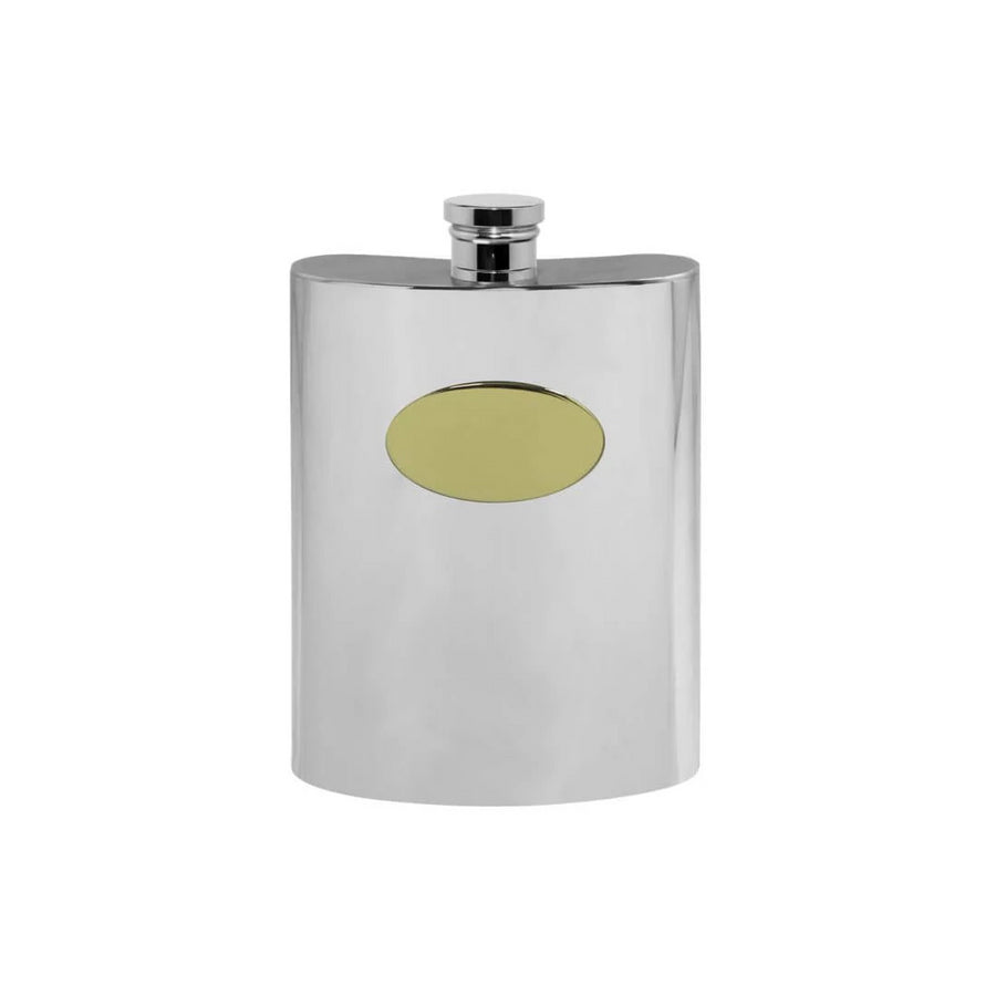 Pewter & Brass Hip Flask