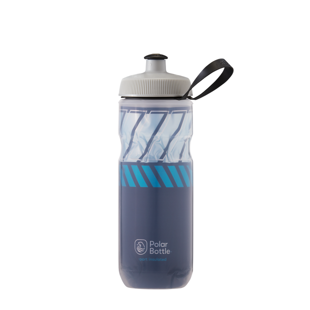 Polar 24 oz Sport Insulated Triple Wall Cycling Water Bottle Contender Charcoal