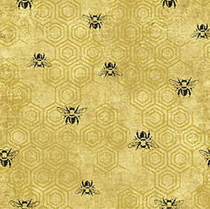 PBS Fabrics - Bee Kind - Yellow Honeycomb (120-99231)