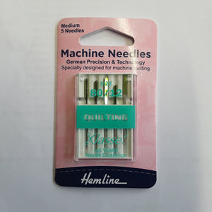 Hemline Machine Needles for quilting