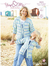 Load image into Gallery viewer, Stylecraft 'You and Me' DK Pattern 9825 - Cardigan and Sweater