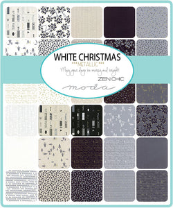 Moda White Christmas Metallic