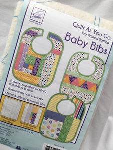 Quilt As You Go Baby Bib