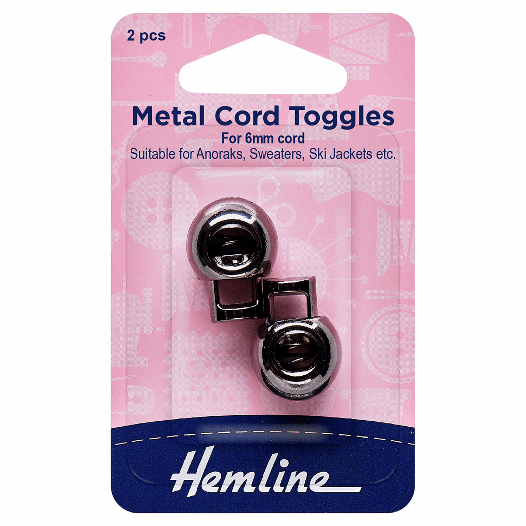 Hemline Adjustable Metal Cord Toggles